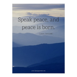 Speak Peace Poster