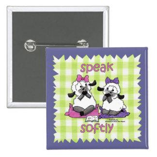 Speak Softly Lambs 15 Cm Square Badge