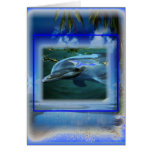 Speak Thy Peace Dolphin Throat Chakra Greeting Card