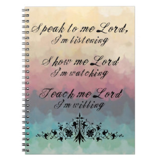 Speak to Me Lord Note Book