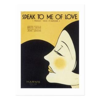 Speak to Me of Love Vintage Songbook Cover Postcard