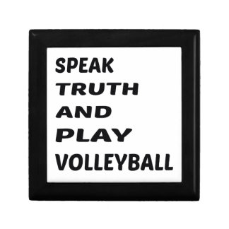 Speak Truth and play Volleyball. Small Square Gift Box