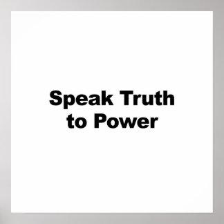 Speak Truth to Power Poster