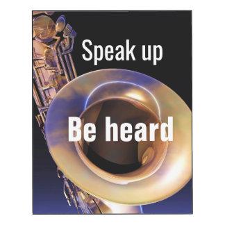 Speak Up Be Heard Saxophone Photo Wall Panel