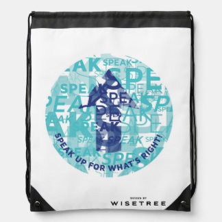 'Speak Up' Drawstring Backpack