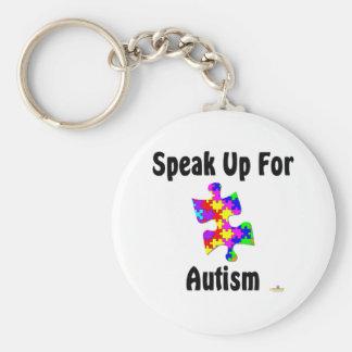 Speak Up For Autism Key Chain
