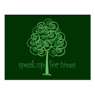 Speak Up for Trees - Tree Hugger Postcard