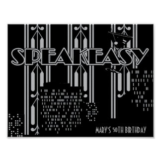 Speakeasy, 1920's Birthday Party Poster