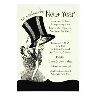 Speakeasy Roaring 20's New Year's Eve Party 13 Cm X 18 Cm Invitation Card