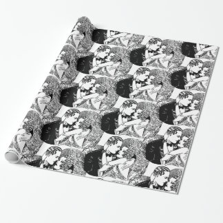 Speakeasy Roaring 20's Wedding Theme Retro Wrapping Paper