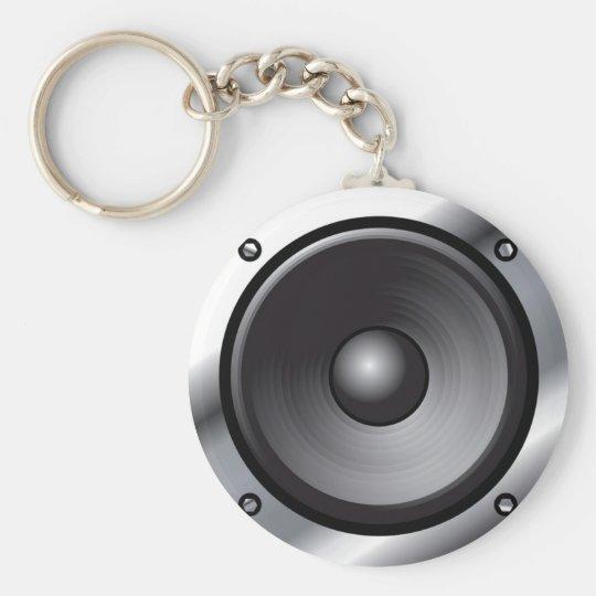 Speaker Basic Round Button Key Ring