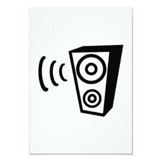 Speaker beat music 3.5x5 paper invitation card
