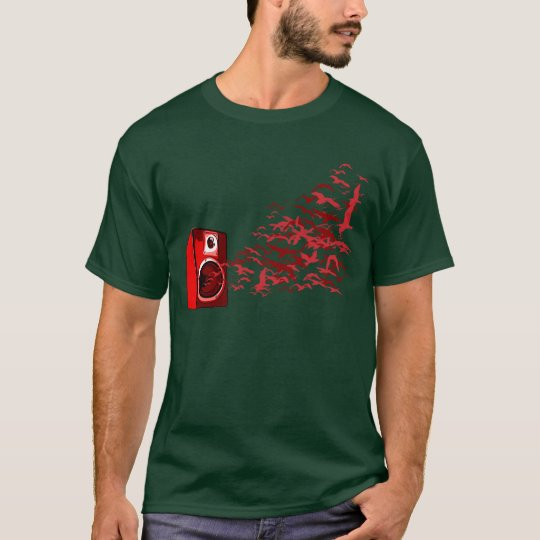 Speaker Birds - Music DJ Loud Disc Jockey T-Shirt