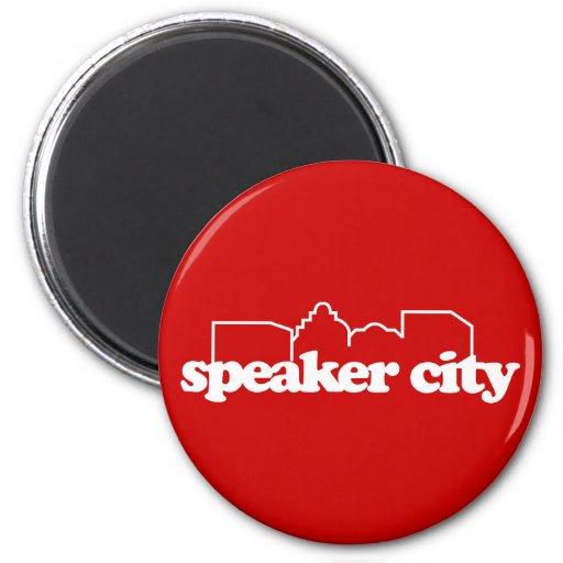 Speaker City old school Refrigerator Magnet