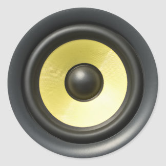 Speaker Cone Classic Round Sticker