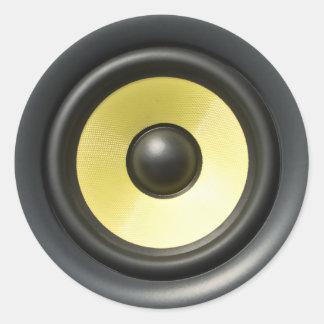 Speaker Cone Round Sticker