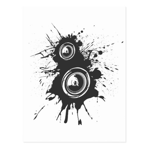 Speaker Graffiti - DJ Music Disc Jockey Audio Post Cards