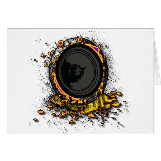 Speaker Graffiti - DJ Music Loud Party Clubbing Card