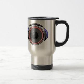 Speaker Headset Stainless Steel Travel Mug
