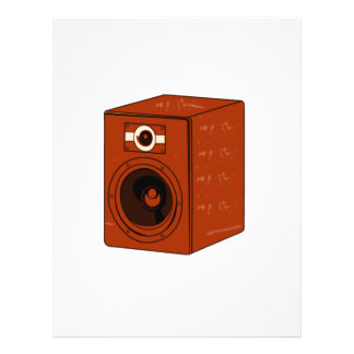 Speaker Single Grunged Graphic Red Brown Flyers