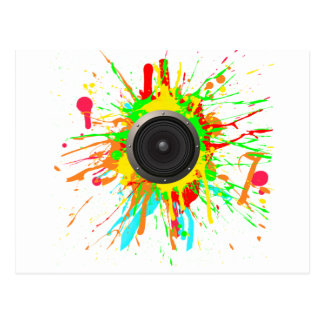 Speaker Splatter - DJ Music Disc Jockey Audio Postcard