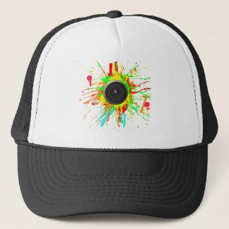 Speaker Splatter - DJ Music Disc Jockey Audio Trucker Hat