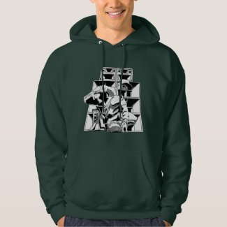 Speaker Stack Men's Hooded Sweatshirt, White