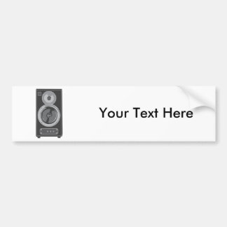 Speaker ~ Stereo Music Audio Retro / Vintage Bumper Sticker