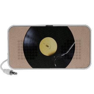 Speaker: Vinyl Record on a Turntable Notebook Speaker