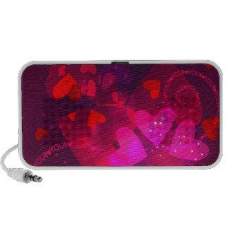 Speaker  with Valentine design