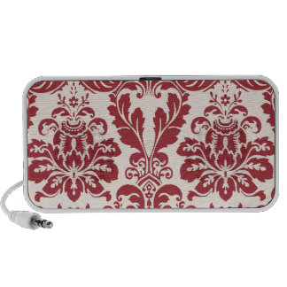 Speakers...red and white damask
