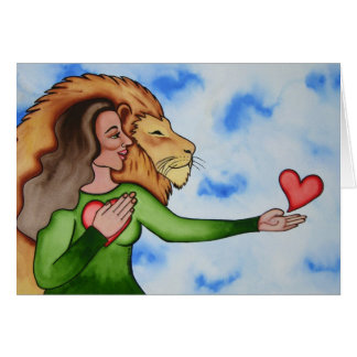 Speaking from the heart by Rita Loyd Greeting Card