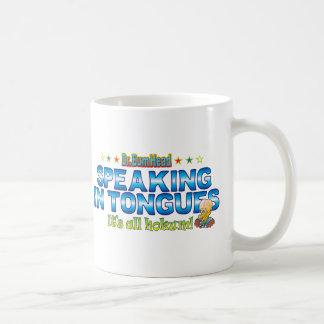 Speaking in Tongues Dr. B Head Basic White Mug