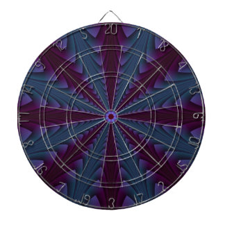 Spear-point in Blue and Purple Dartboard