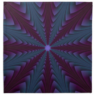 Spear-point in Blue and Purple Napkins