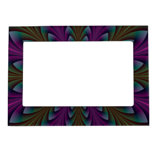 Spear Points in Purple and Green Magnetic Picture Frame