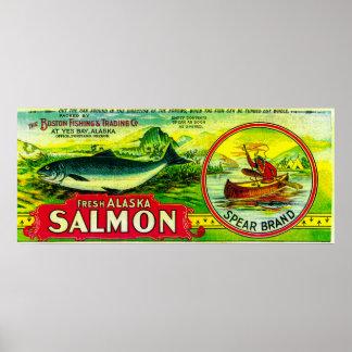 Spear Salmon Can LabelYes Bay, AK Print
