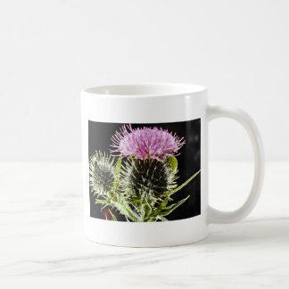 Spear thistle cirsium vulgare flowers mug