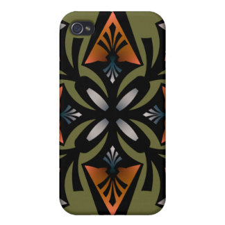 , Spearhead Star, Orange Grey Olive Covers For iPhone 4