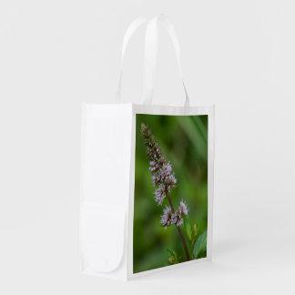 Spearmint Purple Wildflower Reusable Bag
