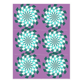 Spearmint Swirl Postcard