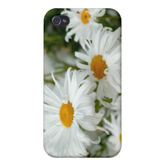 Spec case with white daisies iPhone 4/4S covers