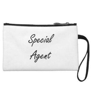 Special Agent Artistic Job Design Wristlet Clutch