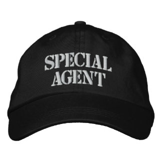 SPECIAL AGENT EMBROIDERED CAP BASEBALL CAP
