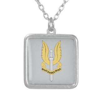 Special Air Service SAS Square Pendant Necklace