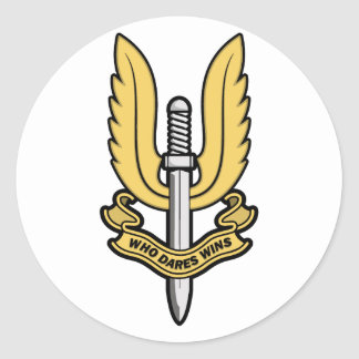 Special Air Service SAS Round Stickers