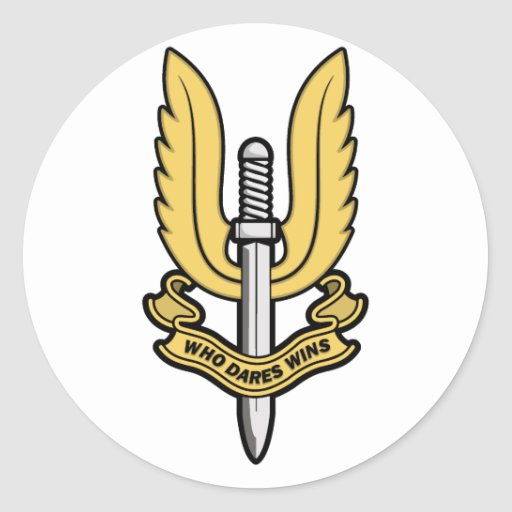 Special Air Service SAS Round Stickers