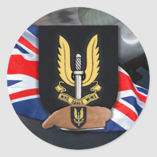 special air service sas vets veterans iraq  Sticke Classic Round Sticker