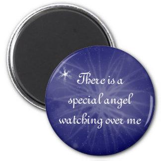 Special angel 6 cm round magnet