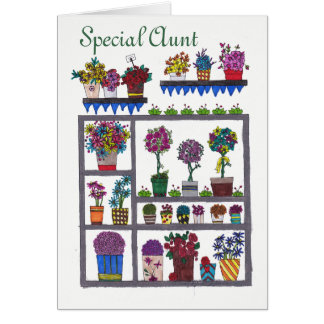 Special Aunt Flowers and Plants Card